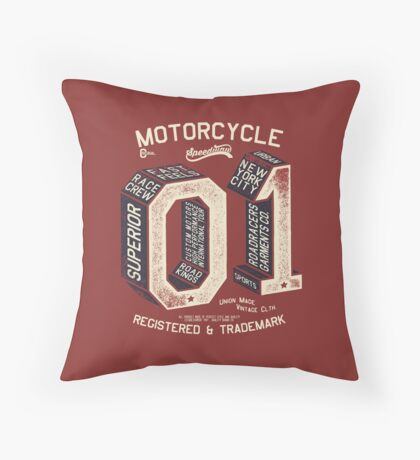 Motorcycle 01 New York Throw Pillow