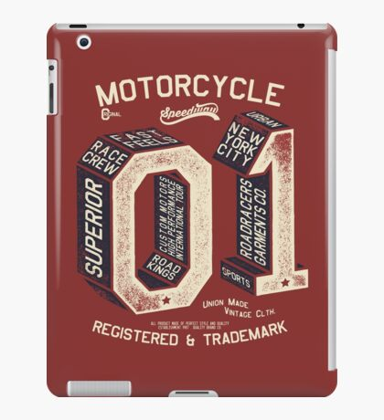 Motorcycle 01 New York iPad Case/Skin