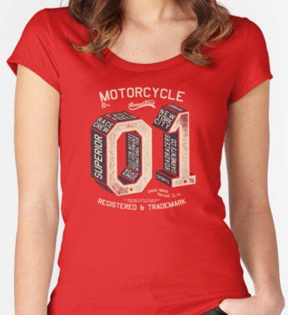 Motorcycle 01 New York Fitted Scoop T-Shirt