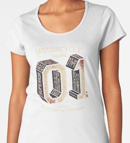 Motorcycle 01 New York Premium Scoop T-Shirt