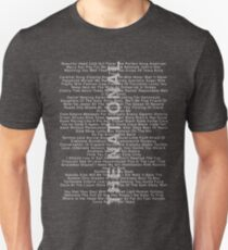 The National - Alle Songs mit IAETF Slim Fit T-Shirt