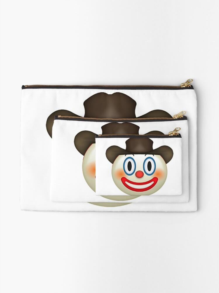 Yeehonk Cowboy Clown Emoji Zipper Pouch By Easykay Redbubble