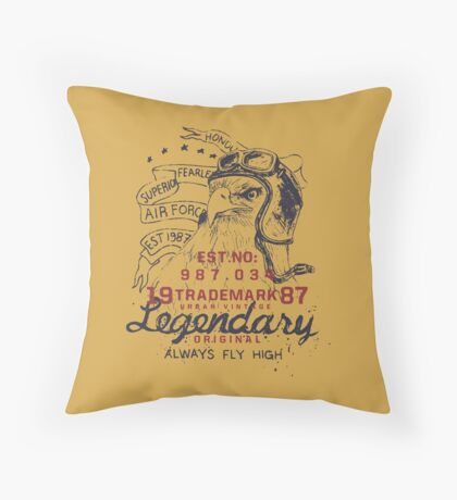 Legendary Air Force Eagle Throw Pillow