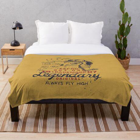 Legendary Air Force Eagle Throw Blanket