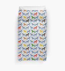 Dala horses pattern - swedish folk design Duvet Cover