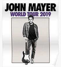john mayer world tour 2019 pratiwi Poster