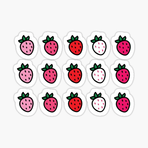 Mini Strawberries Sticker