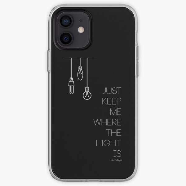 """""""Gravity"""", by John Mayer, in white iPhone Soft Case"""