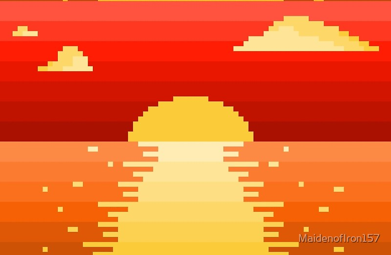 """Pixel Setting Sun"" Studio Pouches by MaidenofIron157 ..."