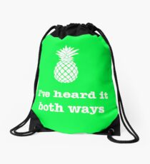 I've heard it both ways, Pineapple style Drawstring Bag