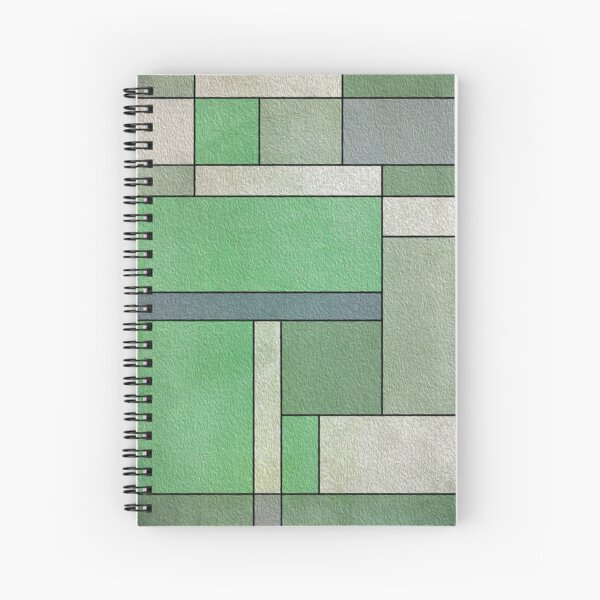 Green Composition By Hurmerinta Spiral Notebook