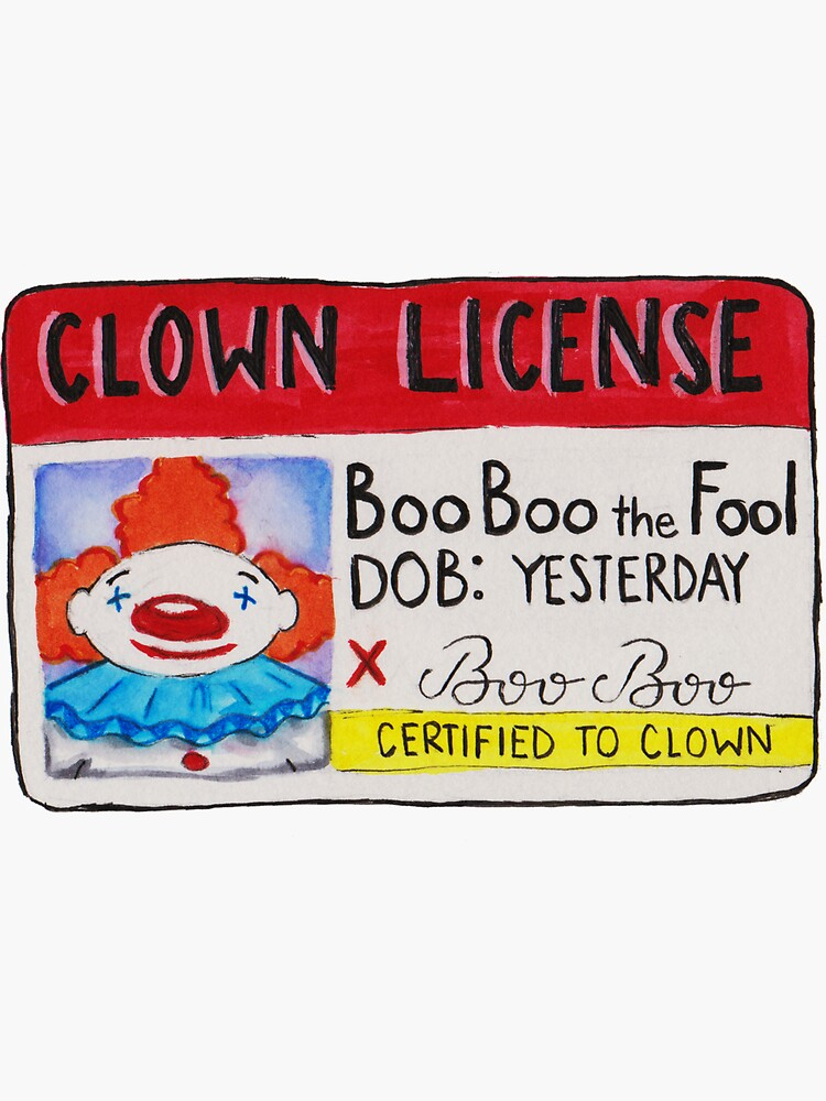 Clown License by graceyoung