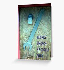 BP's Monkey Wrench Award Greeting Card