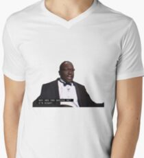 y are u booing ! V-Neck T-Shirt