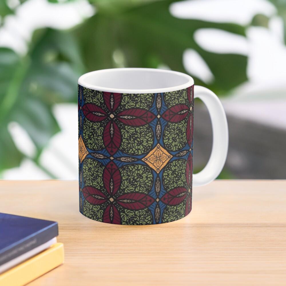 Ankara African print (olive). Mug