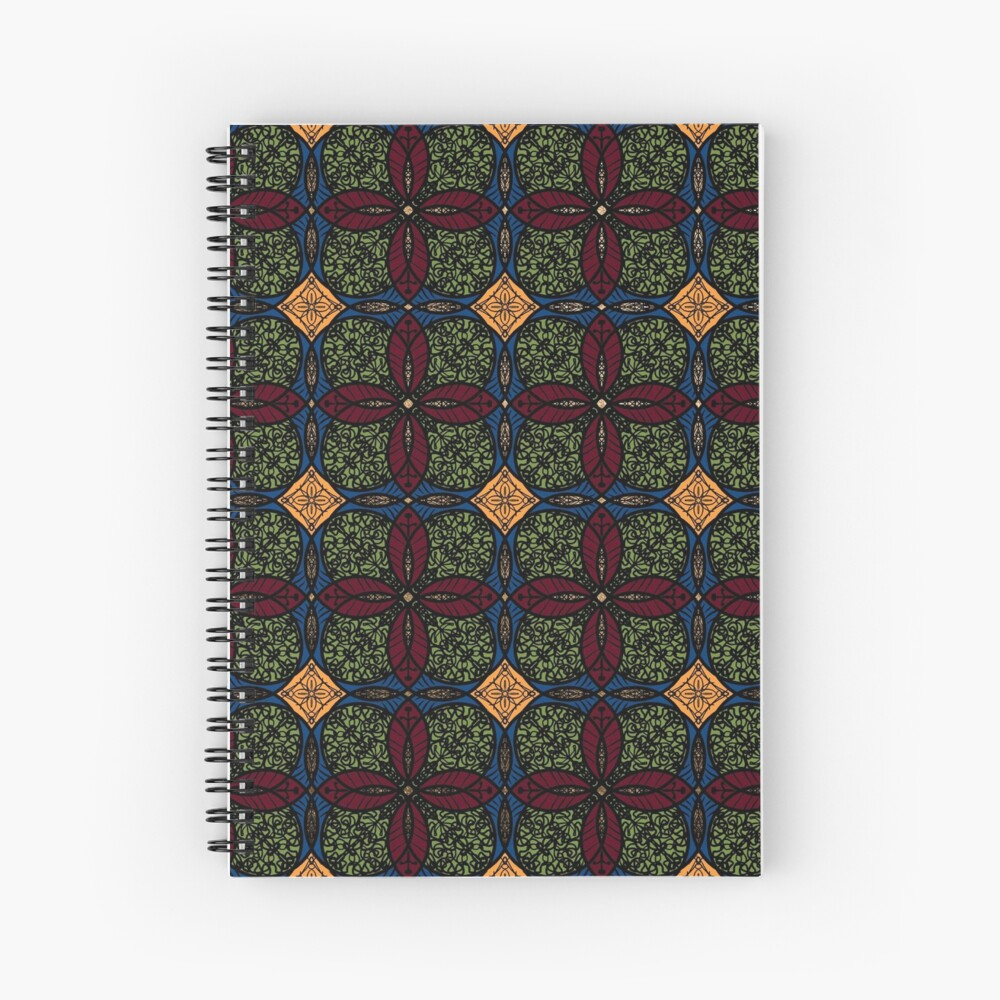 Ankara African print (olive). Spiral Notebook