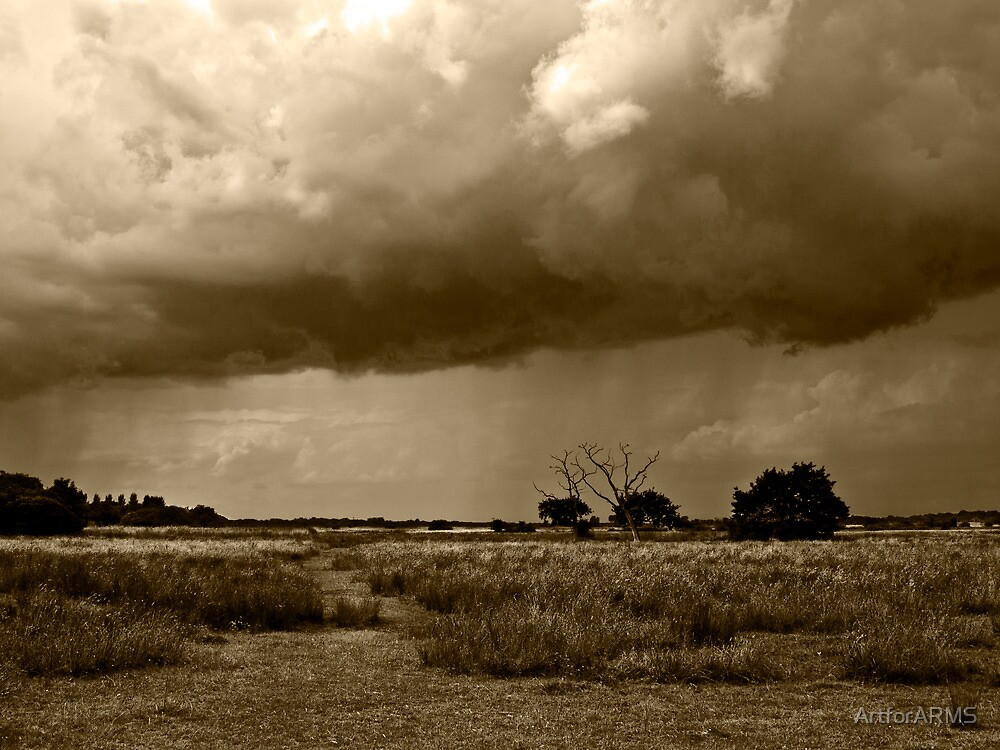 Storm Clouds are Gathering Suffolk Sepia by ArtforARMS