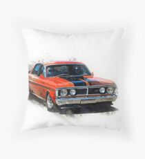Red XY Ford Falcon GT Throw Pillow