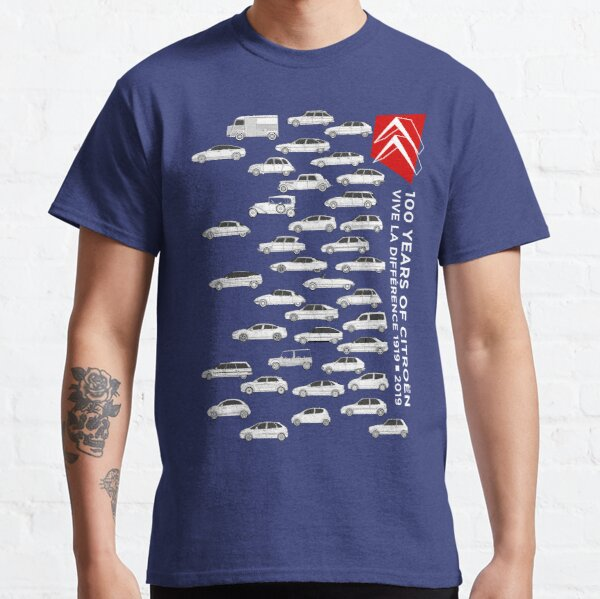 Citroen 100 Anniversary - Vive La Difference 1919-2019 Artwork Classic T-Shirt