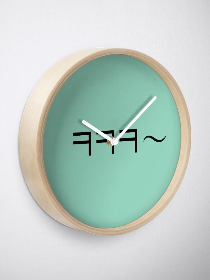 Alternate view of Korean laugh Clock