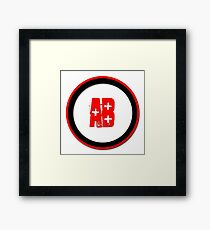 Blood Type AB +  Framed Print
