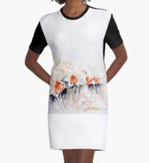 Dancing Daffodils Graphic T-Shirt Dress