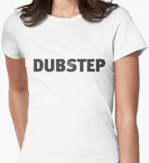 Basic Dubstep Shirt - Black Women's Fitted T-Shirt