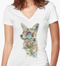 Heroes of Lylat Starfox Inspired Classy Geek Painting Women's Fitted V-Neck T-Shirt