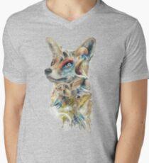 Helden von Lylat Starfox inspirierten klassische Geek-Malerei T-Shirt mit V-Ausschnitt für Männer