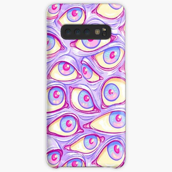 Wall of Eyes in Purple Samsung Galaxy Snap Case
