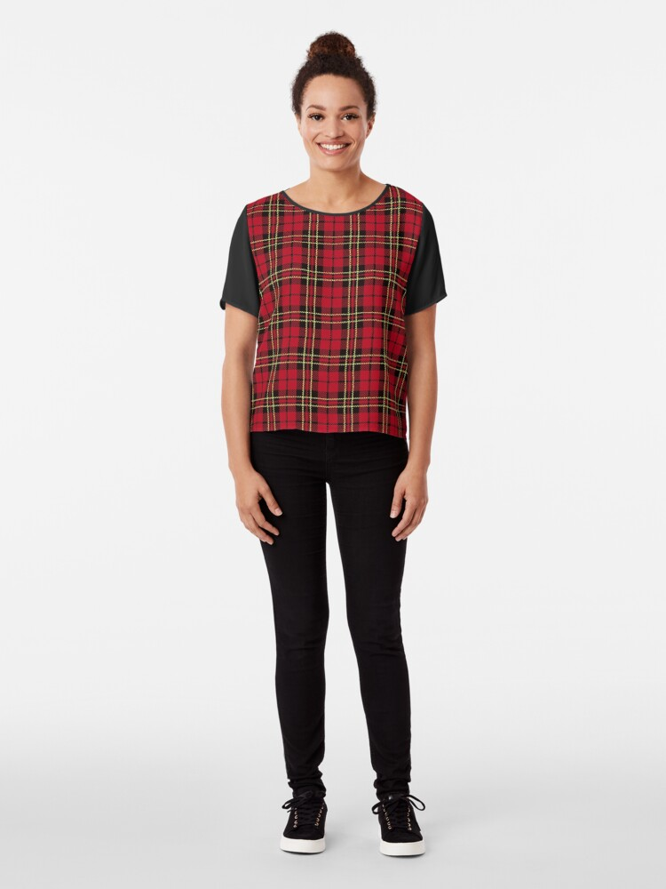 Alternate view of Brodie tartan clan scotland Chiffon Top