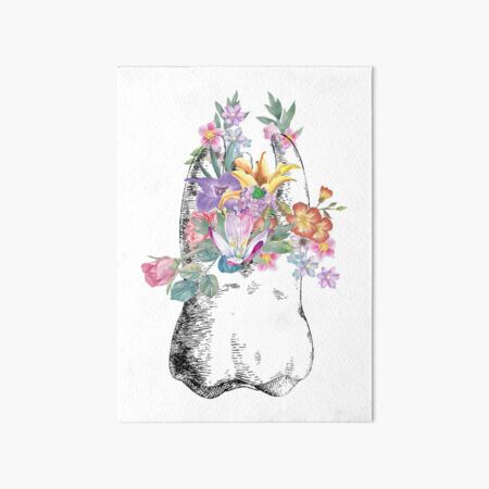 Human tooth, watercolor tooth, tooth, dental print Art Board Print