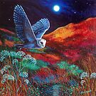 Owl by moonlight  by vickymount