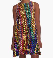 Vestido acampanado MARDI GRAS: estampado de perlas de colores