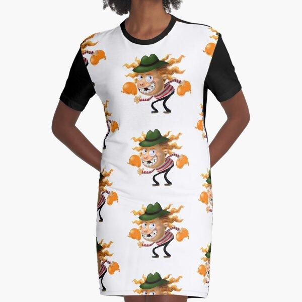 Aubrey the Strawberry. Graphic T-Shirt Dress
