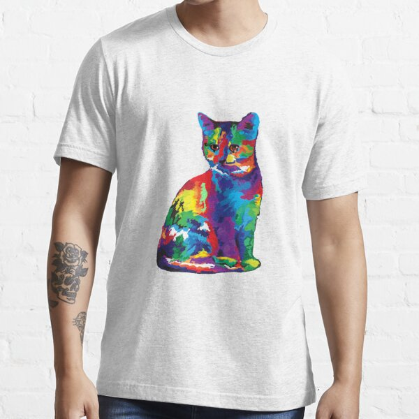 Colourful Cat for Cat Lovers SWP03 Essential T-Shirt