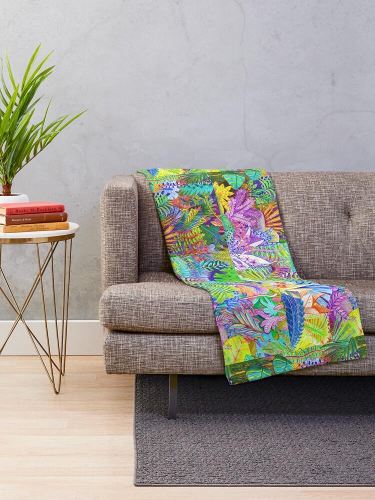 Alternate view of Plants Throw Blanket