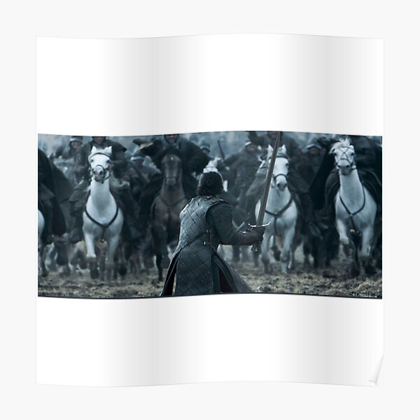 JON SNOW WAR OF BATEARDS (Game of Thrones Emblem) Poster