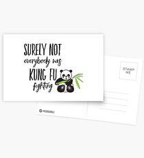 kung fu fighting Postcards