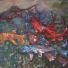 Oscar, a browns trout by Ellen Keagy