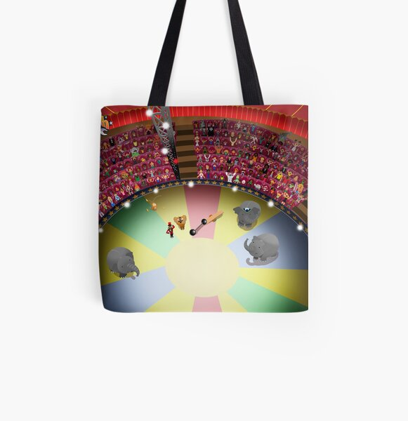Circus ring gasping All Over Print Tote Bag