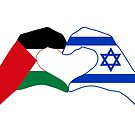 We Heart Palestine & Israel Patriot Flag Series by Carbon-Fibre Media