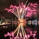 Fireworks reflections by Robyn Lakeman