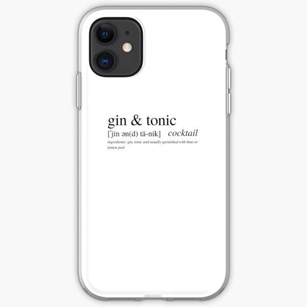 The Gin & Tonic - a cocktail loved by all Brits and around the world! iPhone Soft Case