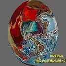 ( HANDBALL )    ERIC  WHITEMAN ART   by eric  whiteman
