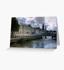 View of the Canal - Cork, Ireland Greeting Card