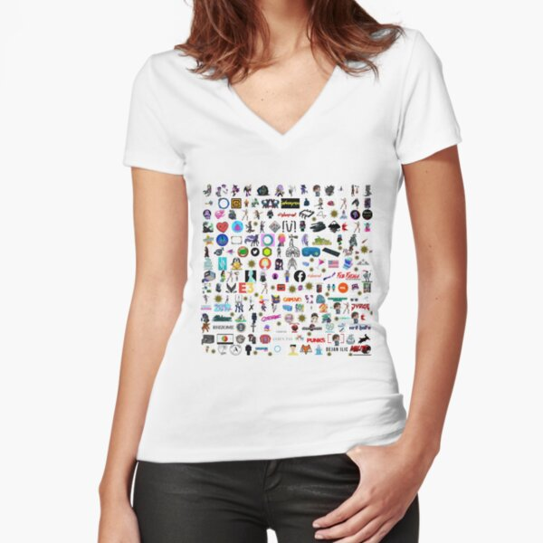 #Cyberpunk  #Cyber #Punk  Fitted V-Neck T-Shirt