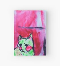 Neon Cat and Space Girl Hardcover Journal
