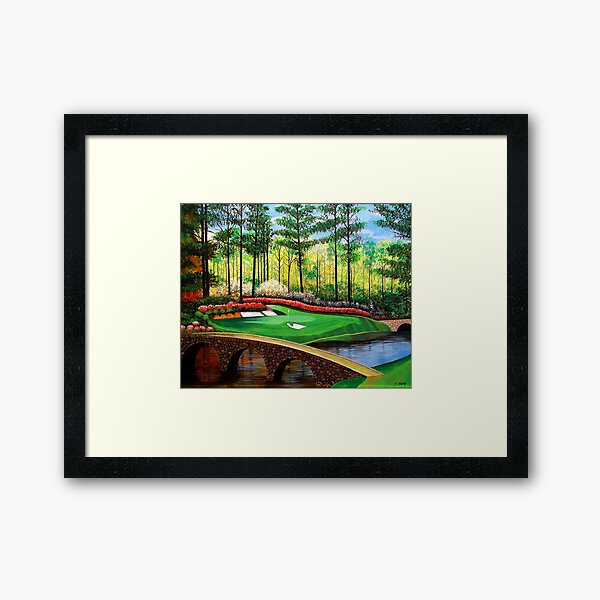 12th hole at Augusta National Framed Art Print