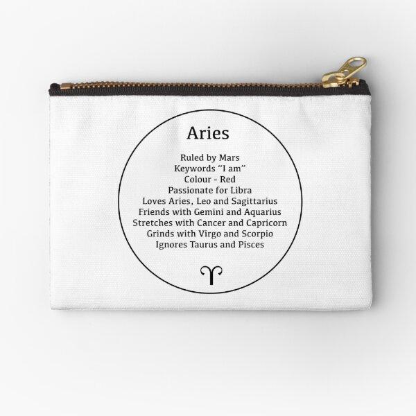 Aries the Ram - Zodiac Sign Compatibility  Zipper Pouch